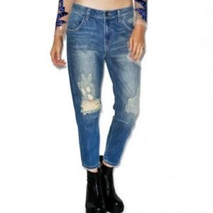 New Wildfox Distressed Ankle Jeans - 29